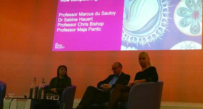 With Sabine Hauert and Chris Bishop in Royal Society in 2016
