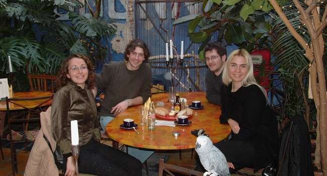 With Hatice Gunes, Michel Valstar, and Antonis Oikonomopoulos in Delft in 2006