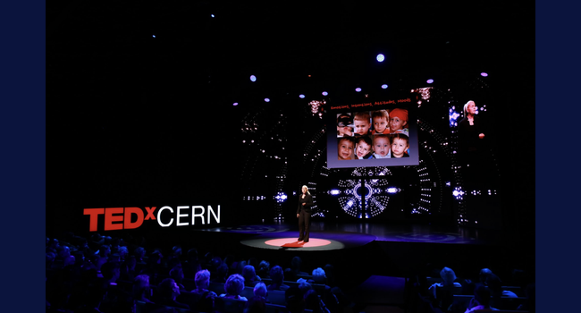 Speaking at TEDxCERN in Geneva in 2018
