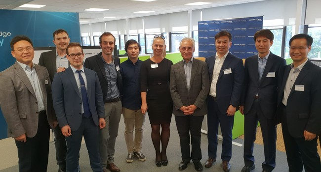 Opening of the Samsung AI Centre in Cambridge in May 2018, with Mr Hyun Suk Kim, the CEO of Samsung